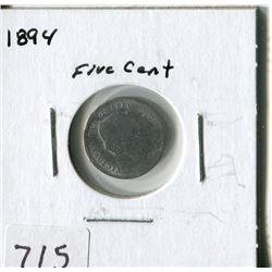 CANADA FIVE CENT COIN (1894)