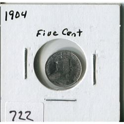 CANADA FIVE CENT COIN (1904)