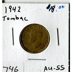 TOMBAC CANADA FIVE CENT COIN (1942)