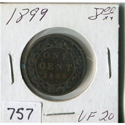 CANADA ONE CENT COIN (1899)