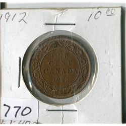 CANADA ONE CENT COIN (1912)