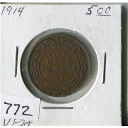 CANADA ONE CENT COIN (1914)