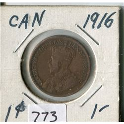 CANADA ONE CENT COIN (1916)