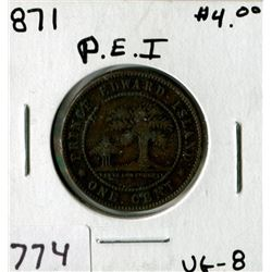 PRINCE EDWARD ISLAND ONE CENT (1871)