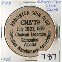 EDMONTON COIN CLUB WOOD (1979)
