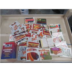 LARGE LOT OF ASSORTED BASEBALL CARDS AND PUZZLE CARDS (DONRUSS, LEAF KING, ETC..)