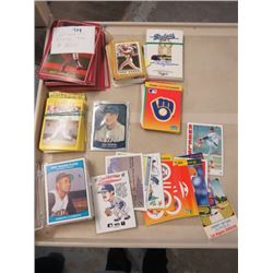 LARGE LOT OF ASSORTED BASEBALL CARDS  (TOPPS, FLEER, ACTION ALLSTARS ETC..)
