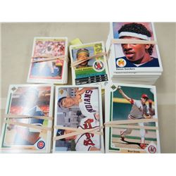 LARGE LOT OF ASSORTED BASEBALL CARDS  (1992 O-PEE-CHEE, 1990-91 UPPER DECK, PLUS MANY MANY MORE)