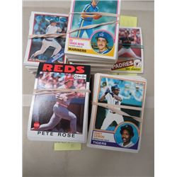 LARGE LOT OF ASSORTED BASEBALL CARDS  (1983, 85, 86, 88, O-PEE-CHEE, DONRUSS,  ETC..)