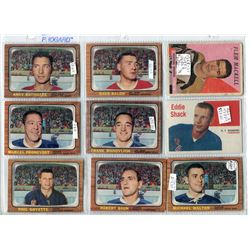 LOT OF ASSORTED HOCKEY CARDS (FRANK MAHOVOLICH, EDDY SHACK, FLEM MACKELL, AND MANY MORE! ) *SOME VER