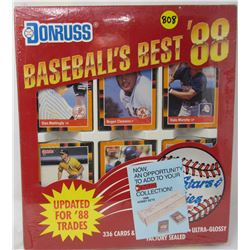 BASEBALL'S BEST '88 (UNOPENED COLLECTOR SET OF BASEBALL CARDS AND STAN MUSIAL PUZZLE) *N.O.S.*