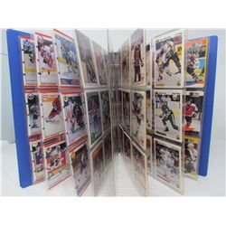 LARGE LOT OF HOCKEY CARDS (IN DISPLAY BOOK) *MANY DIFFERENT TEAMS AND YEARS* (O-PEE-CHEE, SCORE, PRO