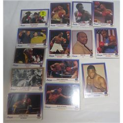 LOT OF ASSORTED BOXING COLLECTOR CARDS (DEMSEY, DURAN, FOREMAN, ETC…)