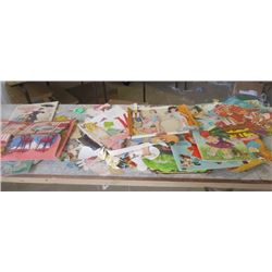 LARGE LOT OF PAPER DOLLS *VINTAGE* (100'S OF PIECES)