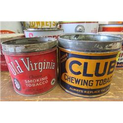 LOT OF ASSORTED TINS (PEANUT BUTTER,TOBACCO, TOFFEE, ETC)