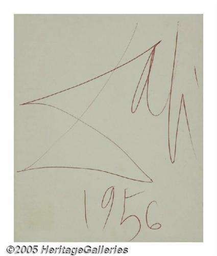 The gallery for --> Salvador Dali Autograph