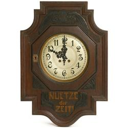 German arts and crafts wall clock for Arts and crafts style wall clock