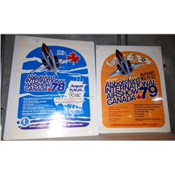 1978 &1979 ORIGINAL ABBOTSFORD AIR SHOW POSTERS