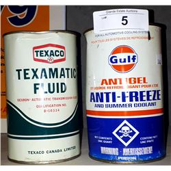 VINTAGE GULF ANTIFREEZE QUART & TEXACO ATF