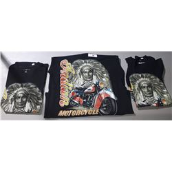 3 NEW INDIAN MOTORCYCLES T-SHIRTS