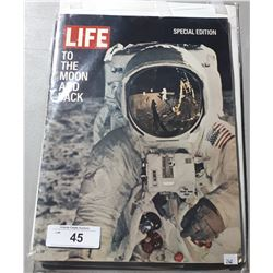 1969 LIFE MAGAZINE AND NATIONAL GEOGRAPHIC, BOTH ARE FEATURES OF LANDING ON THE MOON