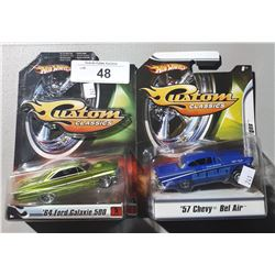 2 HOT WHEELS CUSTOM CLASSICS DIE CAST