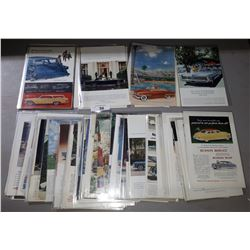 COLLECTION OF VINTAGE 1950'S AND 1960'S CAR MAGAZINE ADS