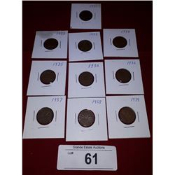 10 1931-1939 CANADIAN PENNIES