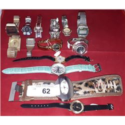 APPROX 14 ASSORTED WRIST WATCHES
