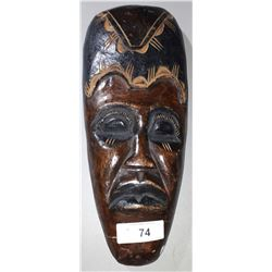 WOODEN AFRICAN TRIBAL MASK