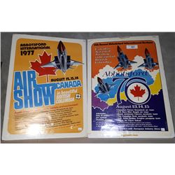 1976 AND 1977 ORIGINAL ABBOTSFORD INTERNATIONAL AIR SHOW POSTERS