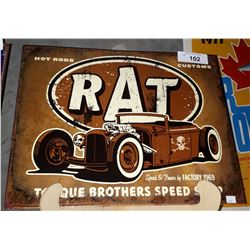 TORQUE BROTHERS SPEED SHOP TIN SIGN