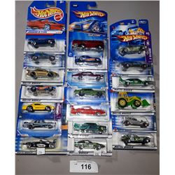 20 HOT WHEELS DIE CAST CARS, ALL UNOPENED PACKAGES