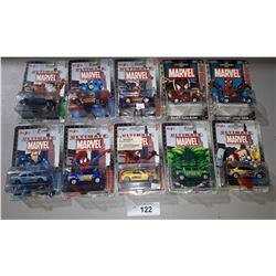 10 MARVEL DIE CAST CARS 1:64 SCALE