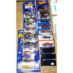 19 HOT WHEELS DIE CAST CARS, 1:64 SCALE