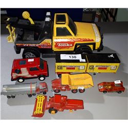 7 VINTAGE TONKA TOYS AND MISC
