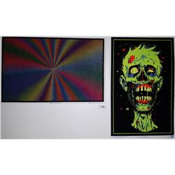 2 FELT POSTERS, 1 IS BLACKLIGHT