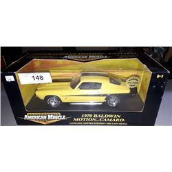 1970 BALDWIN MOTION CAMARO DIE CAST BY AMERICAN MUSCLE 1:18 SCALE, UNOPENED PACKAGE, N.O.S.