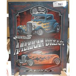 """THE GREAT AMERICAN DREAM"" TIN SIGN"
