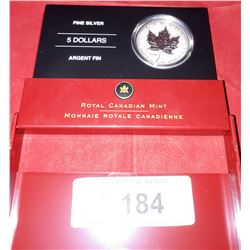 ROYAL CANADIAN MINT FINE SILVER 5 DOLLAR COIN