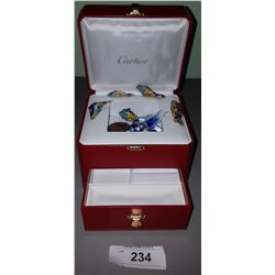 AUTHENTIC CARTIER JEWELRY BOX W/CONTENTS