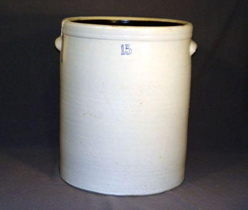 15 Gallon Stoneware Crock Good Condition