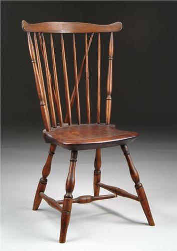 Image 1 : BRACE BACK FAN BACK WINDSOR SIDE CHAIR