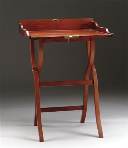 FOLDING MAHOGANY CAMPAIGN DESK. Loading zoom - FOLDING MAHOGANY CAMPAIGN DESK
