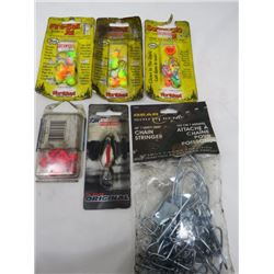 LOT OF ASSORTED FISHING JIGS & HOOKS (N.O.S.)