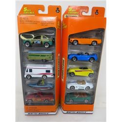 2 PACKS OF MATCHBOX VEHICLES (5/PACK, 10 VEHICLES TOTAL)