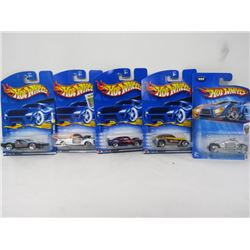 HOTWHEELS 5 VEHICLE LOT (JEEPSTER, DODGE TOMAHAWK, JADED, FORD 1940, SIDEKICK)
