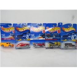 HOTWHEELS 5 VEHICLE LOT (FORD DELIVERY 1932, RIG WRECKER, DOG FIGHTER, TALBOT LAGO, SONIC SPECIAL)