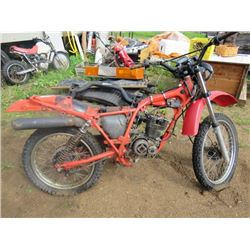 MOTORCYCLE (HONDA) *SEIZED* (1983) *MADE IN JAPAN* ( SERIAL # JH2MD0207DK402876)