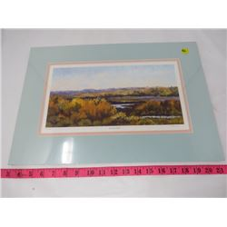 SCENIC PAINTING (AUTUMN BLUFFS) *NUMBERED 64/400* (SIGNED)